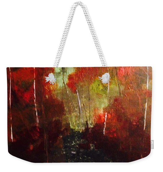 Weekender Tote Bag featuring the painting Sunset Trail by Denise Tomasura