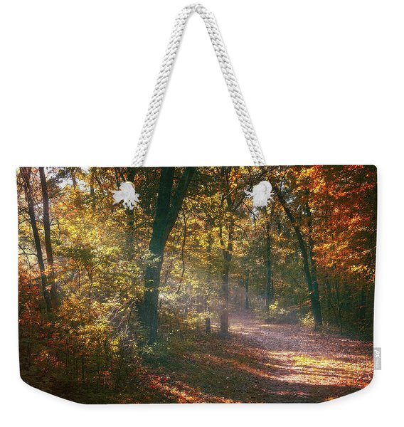 Autumn Path Weekender Tote Bag