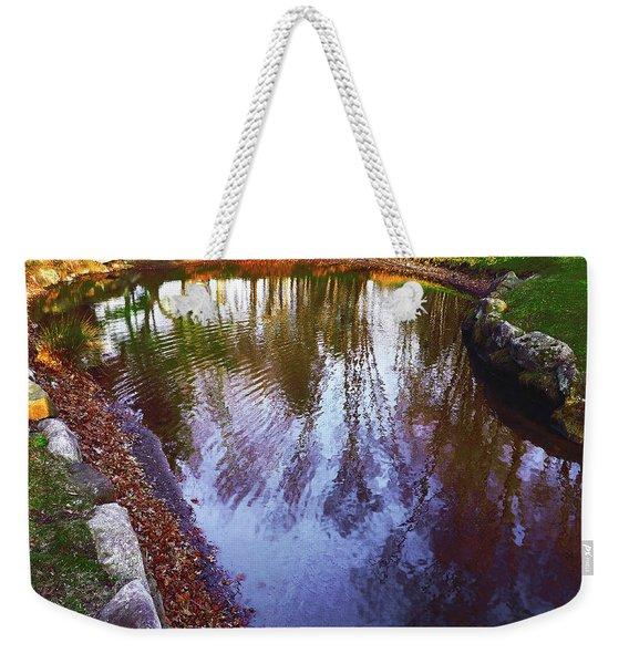 Autumn Reflection Pond Weekender Tote Bag