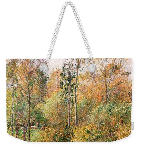 Autumn Poplars, Eragny Weekender Tote Bag