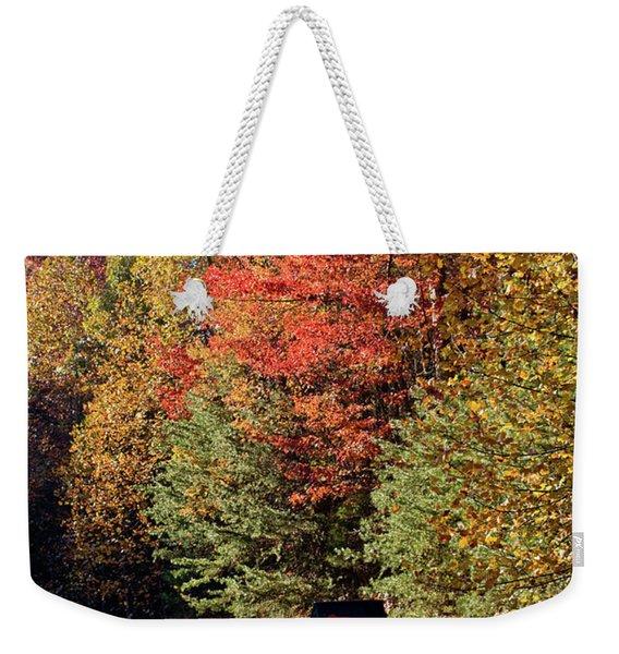Autumn Post Weekender Tote Bag