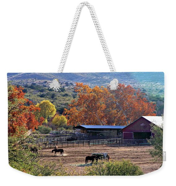 Autumn Ranch Weekender Tote Bag