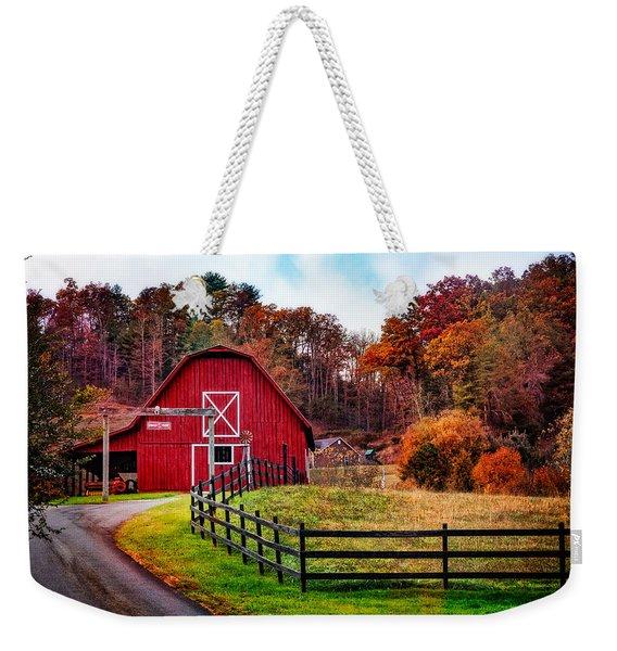 Autumn Red Barn Weekender Tote Bag