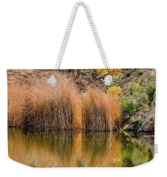 Autumn Reflection At Boyce Thompson Arboretum Weekender Tote Bag