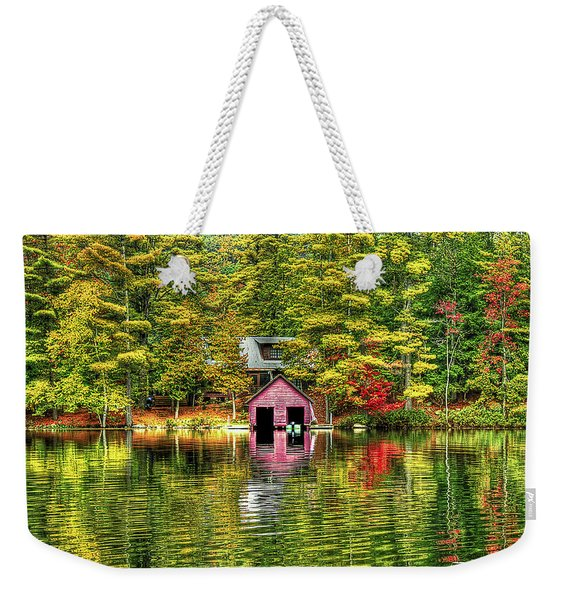 Autumn Reflections Weekender Tote Bag
