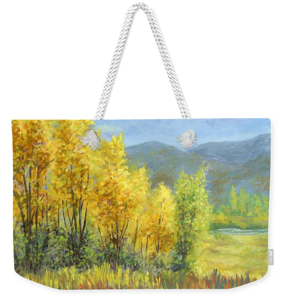 Autumn River Valley Weekender Tote Bag