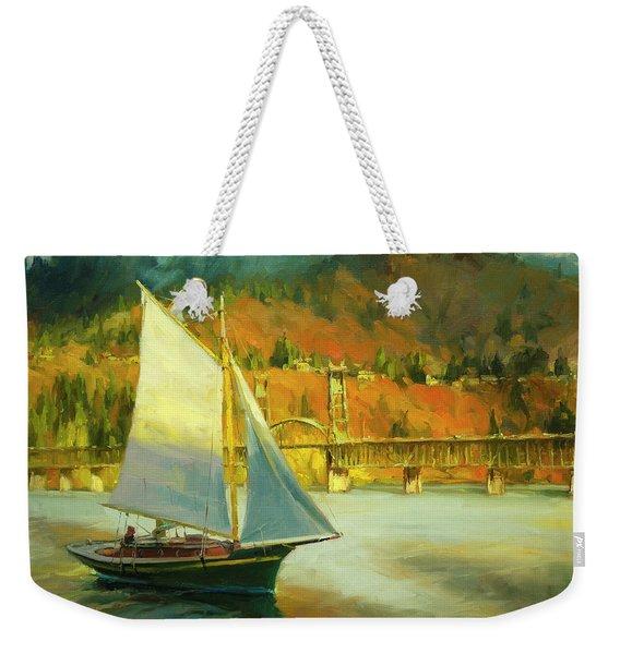 Autumn Sail Weekender Tote Bag
