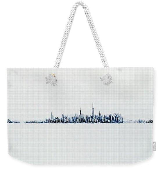 Autumn Skyline Weekender Tote Bag