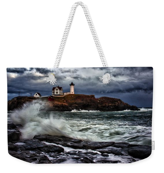 Autumn Storm At Cape Neddick Weekender Tote Bag