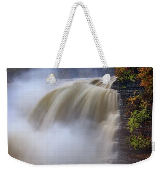 Autumn Storm At The Upper Falls Weekender Tote Bag