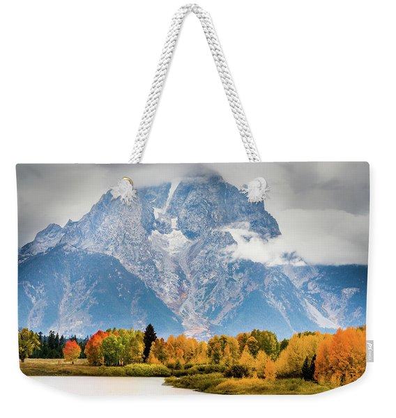 Autumn Storm Over Mount Moran Weekender Tote Bag