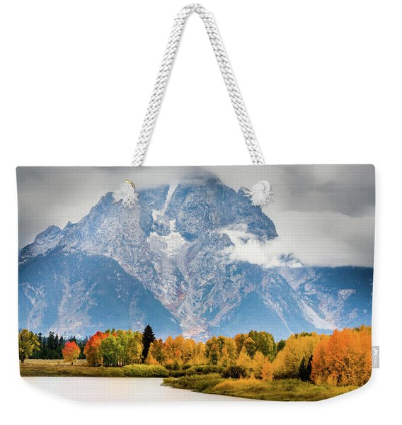 Autumn Storm Over Mount Moran Weekender Tote Bag