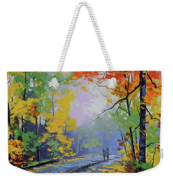 Autumn Stroll Weekender Tote Bag