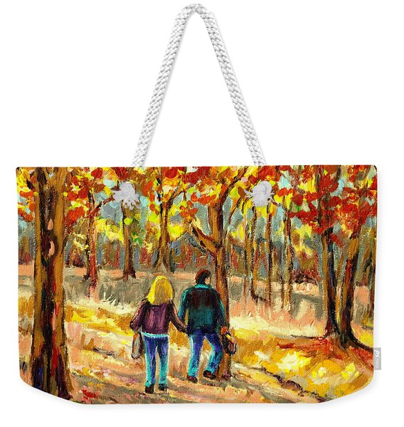 Autumn  Stroll On Mount Royal Weekender Tote Bag