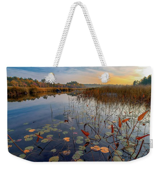 Autumn Sunrise At Compass Pond Weekender Tote Bag
