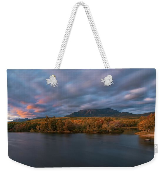 Autumn Sunset At Mount Katahdin Weekender Tote Bag