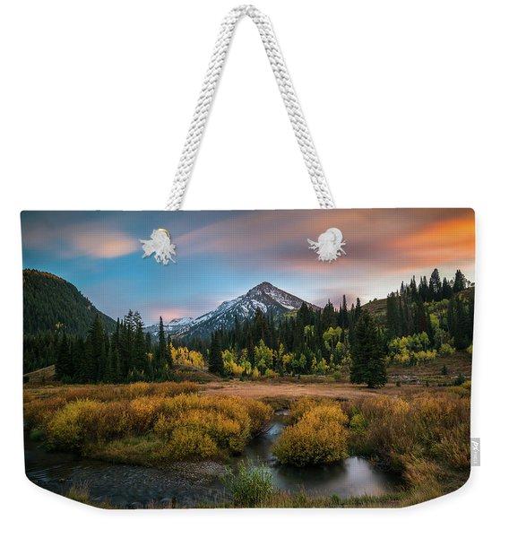Autumn Sunset In Big Cottonwood Canyon Weekender Tote Bag