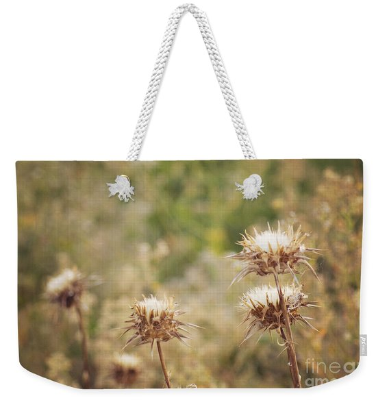 Autumn Thistles Weekender Tote Bag