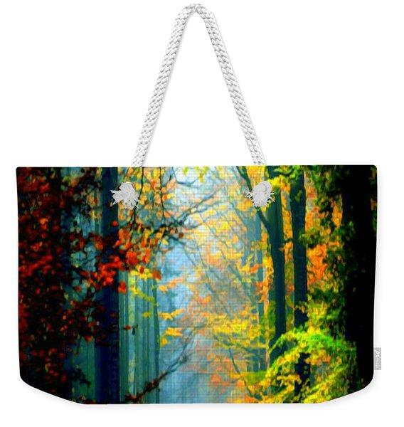 Autumn Trails In Georgia Weekender Tote Bag