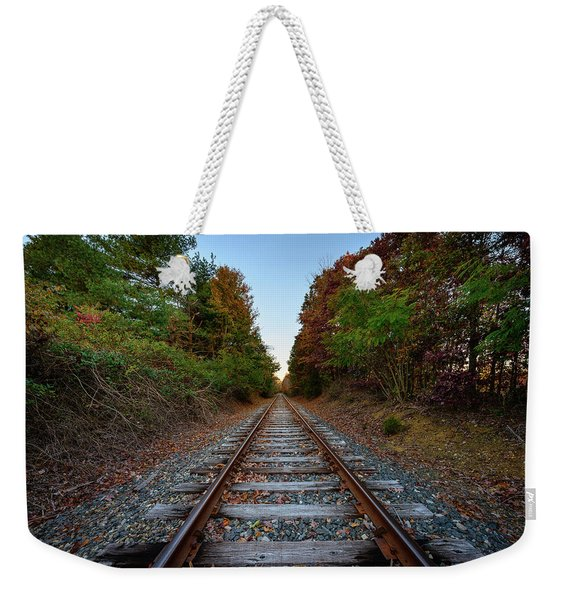 Autumn Train Weekender Tote Bag