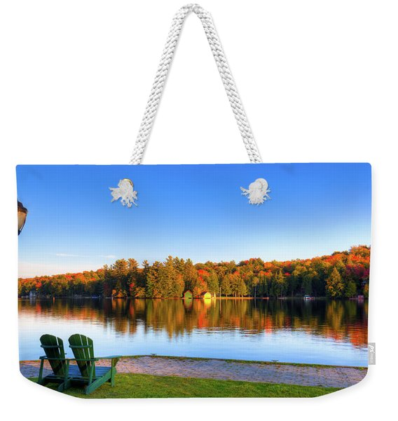Autumn View For Two Weekender Tote Bag