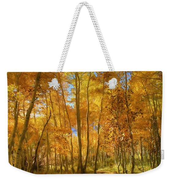 Autumn Walk Among The Aspens Weekender Tote Bag