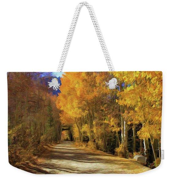 Autumn Walk At June Lake Weekender Tote Bag