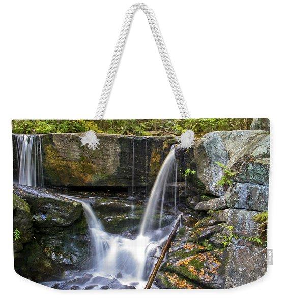 Autumn Waterfall Weekender Tote Bag