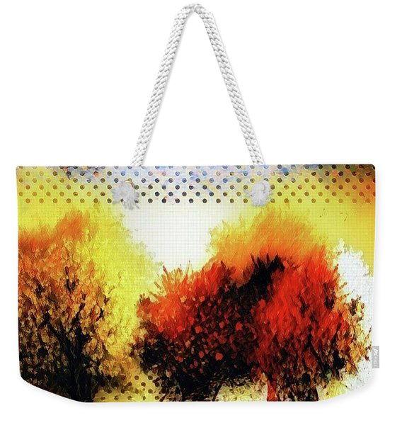 Autumn With Cat Focus Weekender Tote Bag