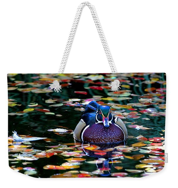Autumn Wood Duck Weekender Tote Bag