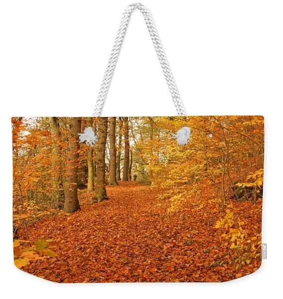 Autumn Woodland In Derbyshire Weekender Tote Bag