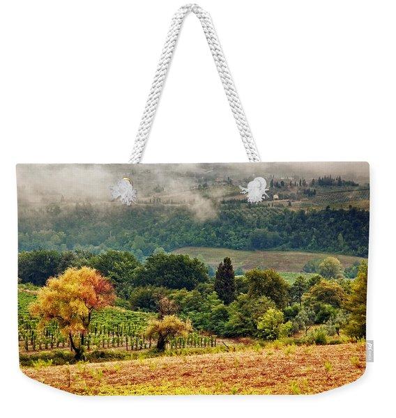 Autumnal Hills Weekender Tote Bag