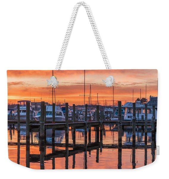Autumnal Sky Weekender Tote Bag
