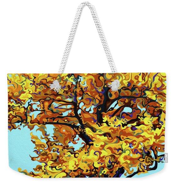 Autumnal Yellow Treet Weekender Tote Bag