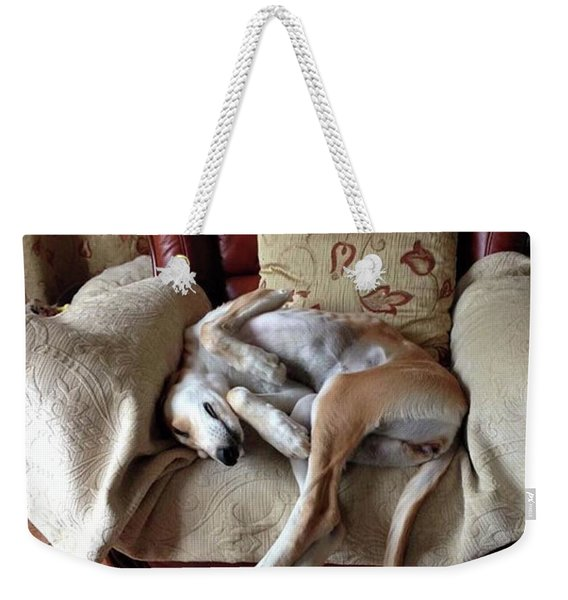 Ava - Asleep On Her Favourite Chair Weekender Tote Bag