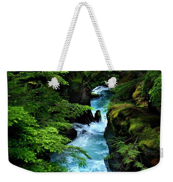 Avalanche Creek Waterfalls Weekender Tote Bag