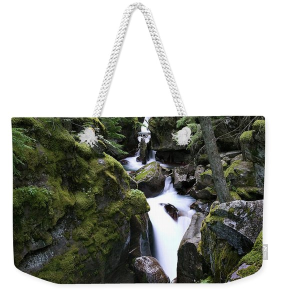 Avalanche Gorge Glacier National Park Weekender Tote Bag