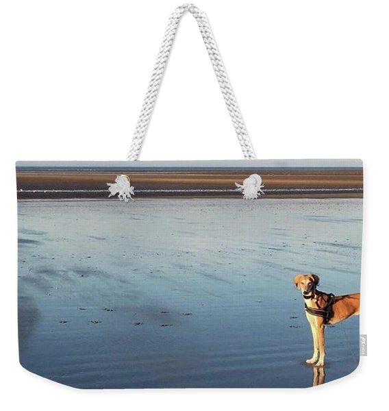 Ava's Last Walk On Brancaster Beach Weekender Tote Bag