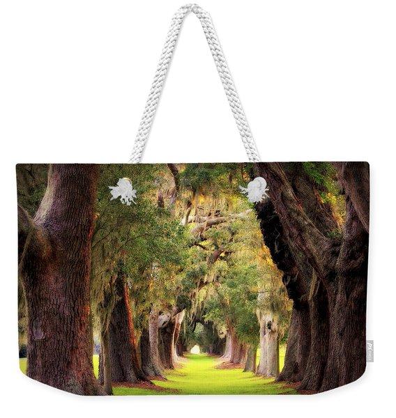 Avenue Of Oaks Sea Island Golf Club St Simons Island Georgia Art Weekender Tote Bag