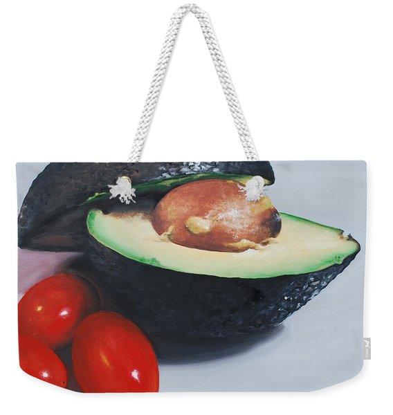 Avocado And Cherry Tomatoes Weekender Tote Bag