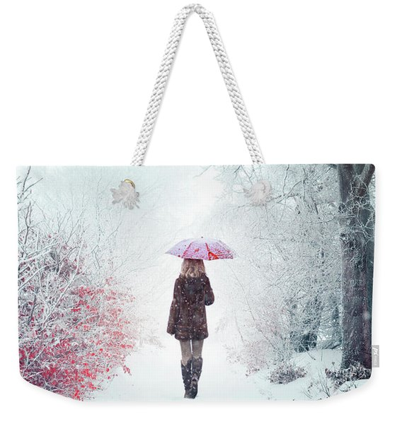 Awaken Into Winter Weekender Tote Bag