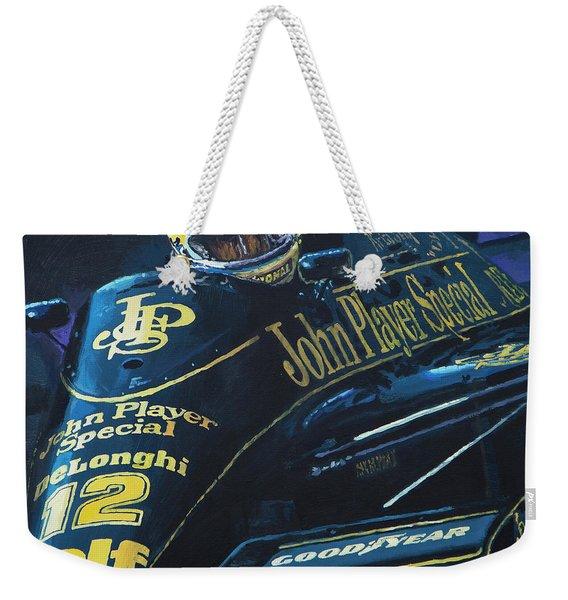 Ayrton Senna Lotus 98t1986 01 Weekender Tote Bag
