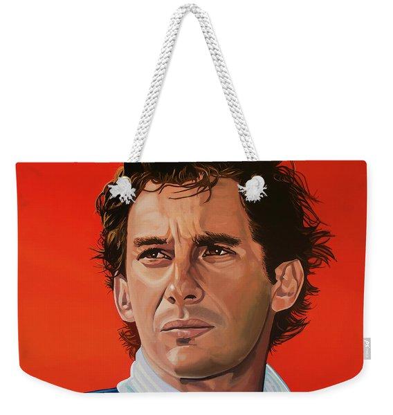 Ayrton Senna Portrait Painting Weekender Tote Bag