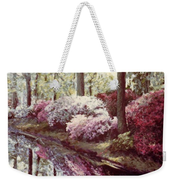 Azaleas By The Lake Weekender Tote Bag