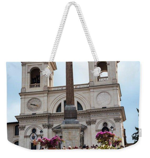 Azaleas On The Spanish Steps In Rome Weekender Tote Bag
