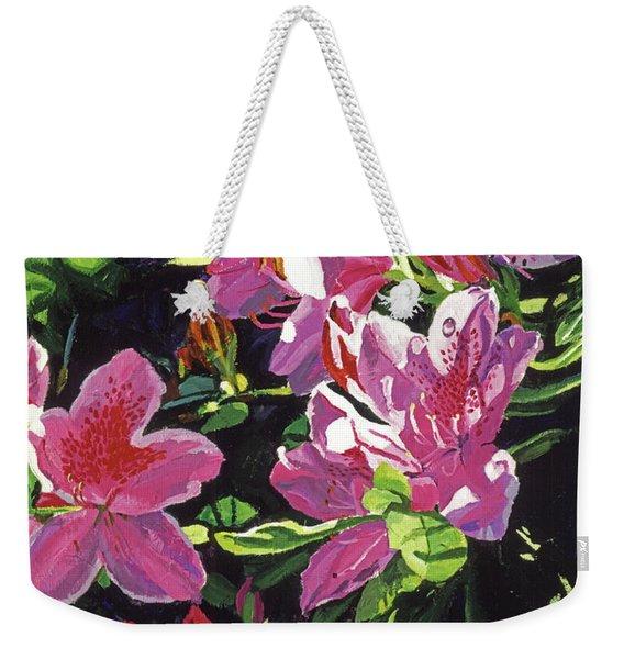 Azaleas With Dew Drop Weekender Tote Bag