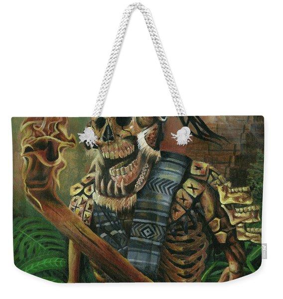 Aztec Hunter Dia De Muertos Weekender Tote Bag