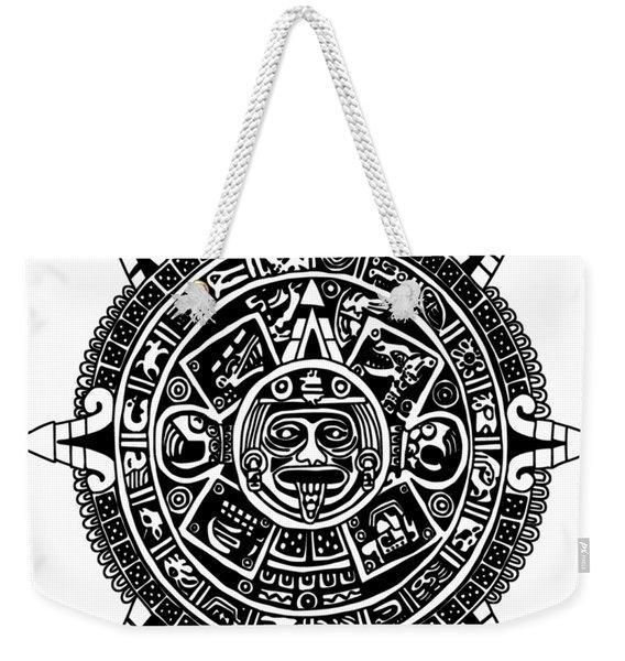 Aztecs Calendar Weekender Tote Bag
