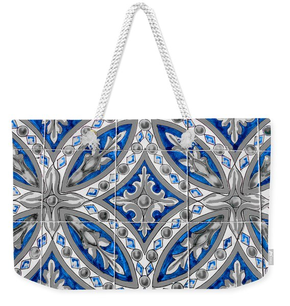 Azulejo - Blue Floral Decoration  Weekender Tote Bag