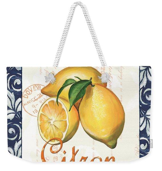 Azure Lemon 2 Weekender Tote Bag